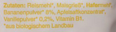 Freche Freunde Frühstücks sternchen Bana &van 125 G - Ingredients