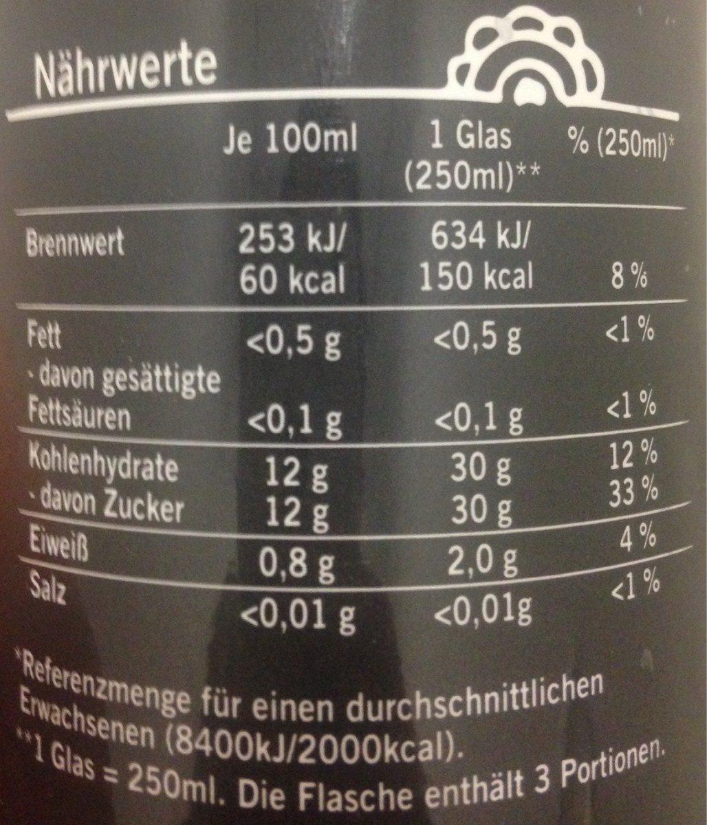 Smoothie XXL Erdbeere Banane - Informations nutritionnelles - fr