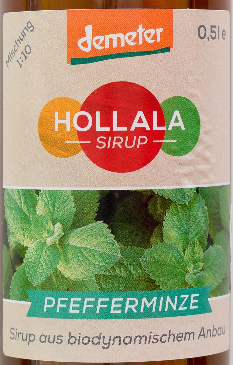 Hollala Sirup Pfefferminze - Produit