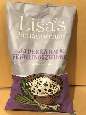 Lisa's Bio Kesselchips Sauerrahm & Frühlingszwiebel - Produit - fr