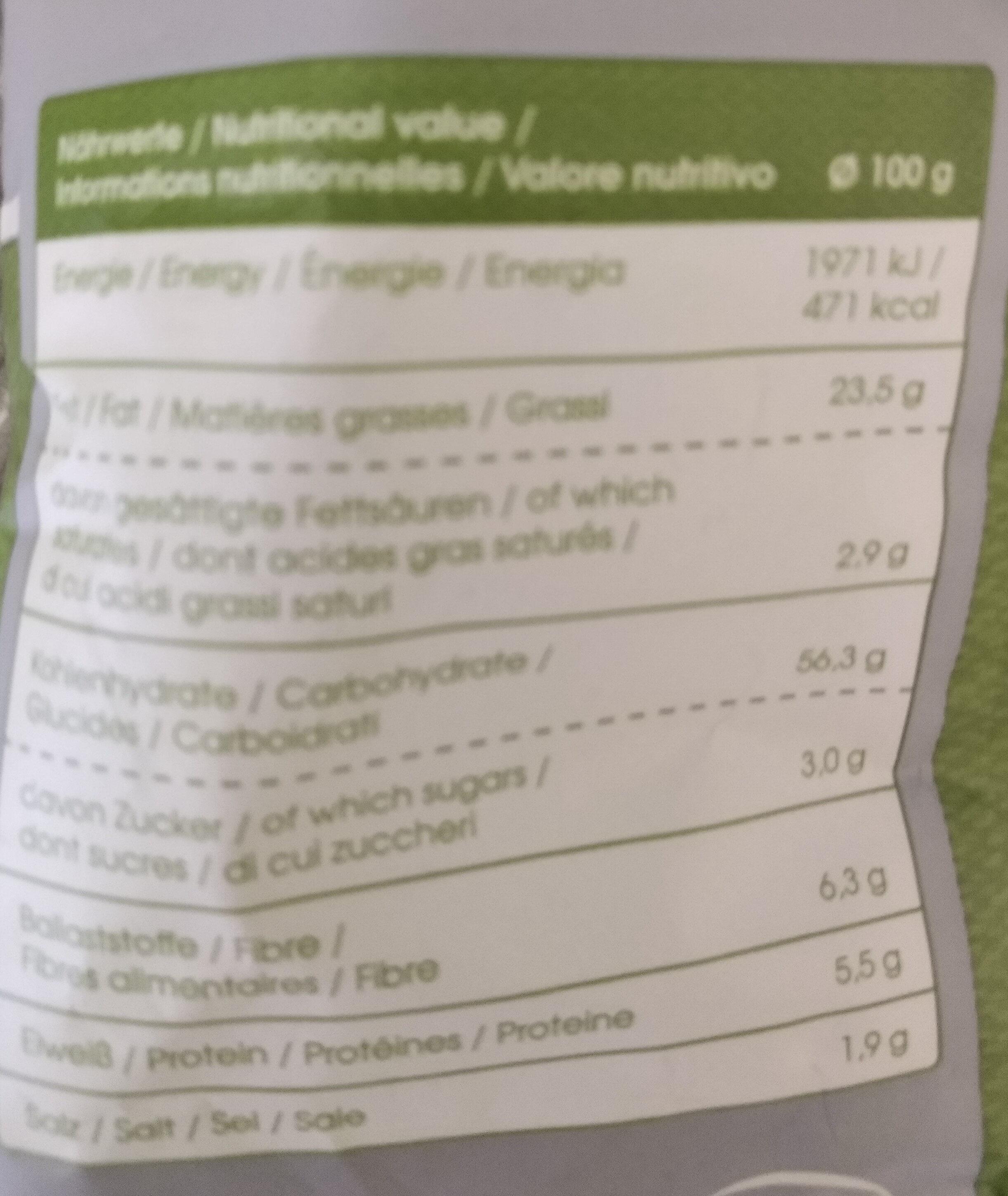 Bio-kesselchips paprika - Nutrition facts - fr