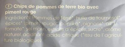 Lisas bio kesselchips - Ingrédients - fr