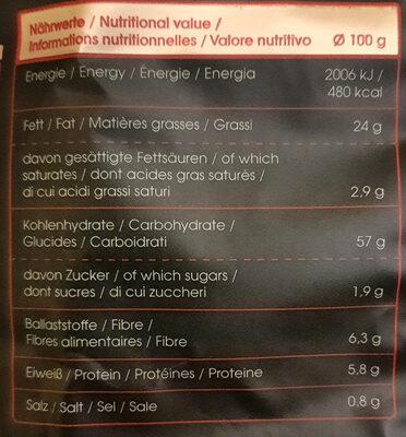 Lisa's Kesselchips Alpenkräuter - Informations nutritionnelles - de