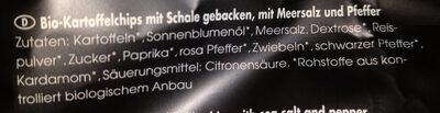 Bio Kesselchips Meersalz & Pfeffer - Ingredients - de