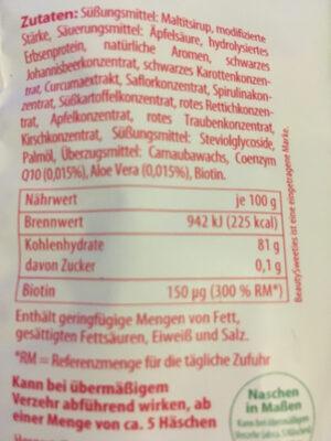 Beauty Sweeties Häschen - Ingredients - de