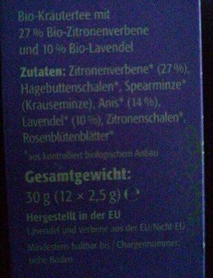 Naturbelassener Bio-KräuterteeBio Lavendel & Verbene - Ingredienti - de