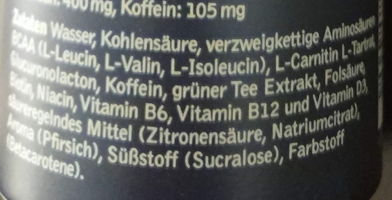 BCAA Pfirsich - Ingrédients