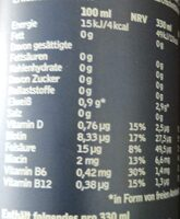 BCAA Pfirsich - Informations nutritionnelles