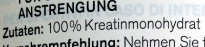Creatine - Ingredients