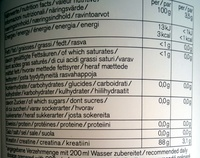 Creatine - Nutrition facts