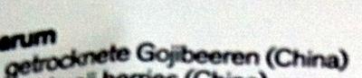 Goji - Inhaltsstoffe