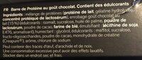 Protein Bar chocolate flavour - Ingrédients
