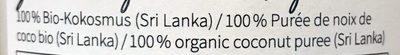 Kokosmus Bio - Ingredients - fr