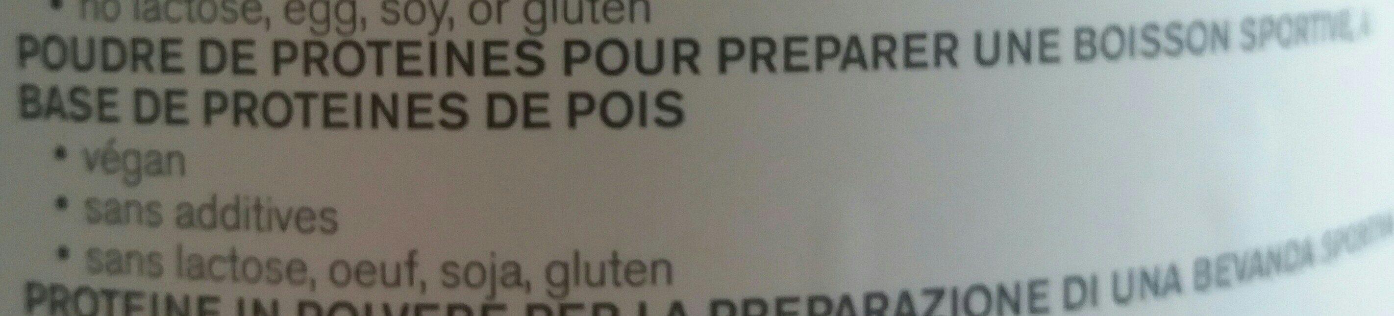 Nu3 Erteprotein, Pulver - Ingredients