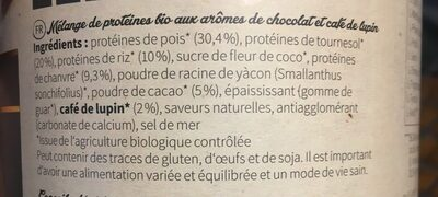 Nu3 Bio Vegan Protein Shake, Schoko-macchiato, Pulver - Ingredients
