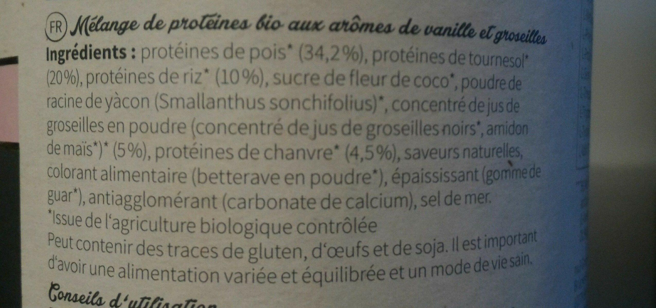 Bio vegan protein shake prenium - Ingredients