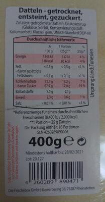 Datteln - Ingredients - de