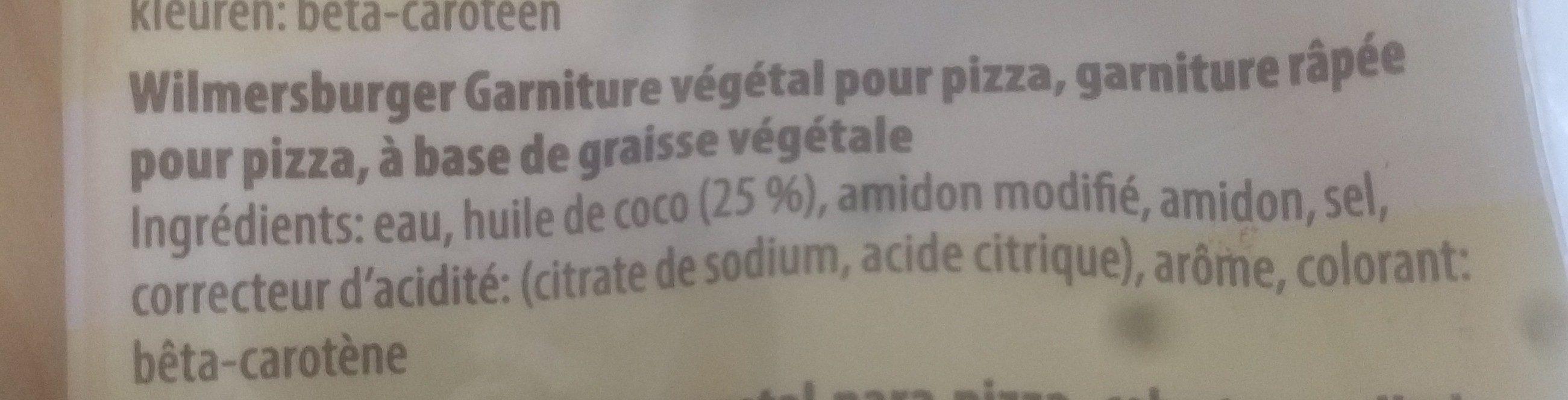 Wilmersburger Pizzaschmelz - Ingrediënten - fr