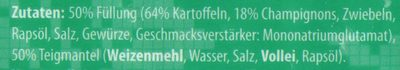 Taschki Vareniki mit Kartoffel-Pilz-Füllung - Inhaltsstoffe