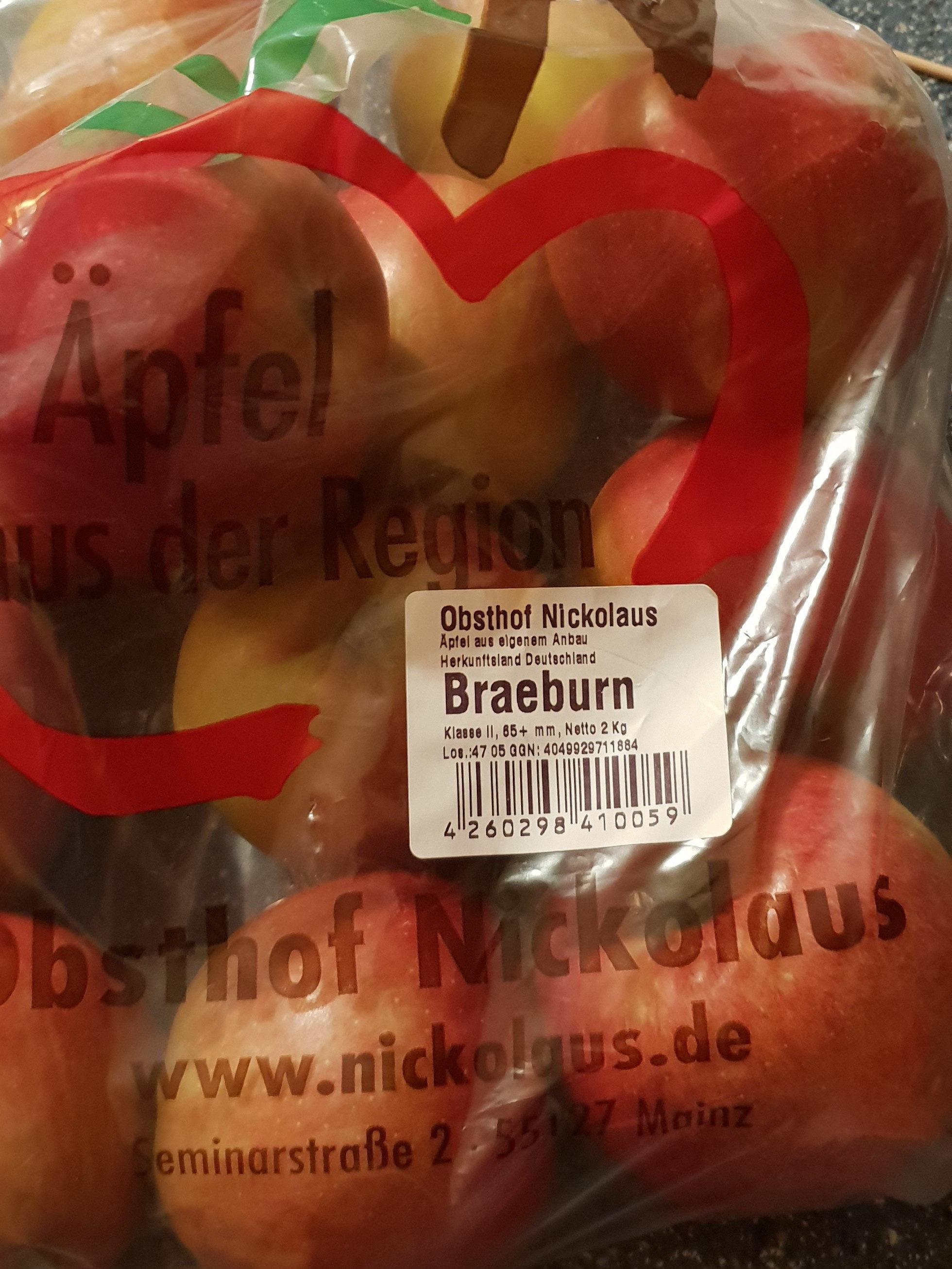 Äpfel Braeburn Klasse II, 65+ mm - Product - de