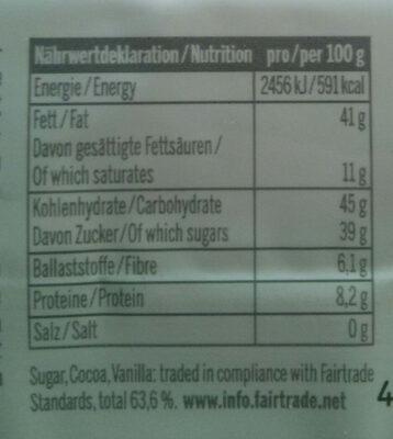 Whole Hazelnut Chocolate Bar - Voedingswaarden - en
