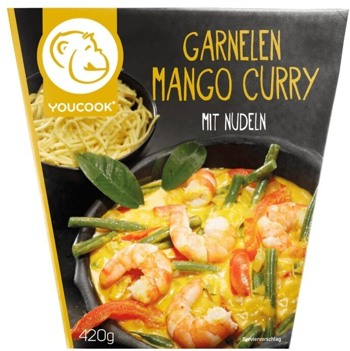 Garnelen Mango Curry mit Nudeln - Product - de