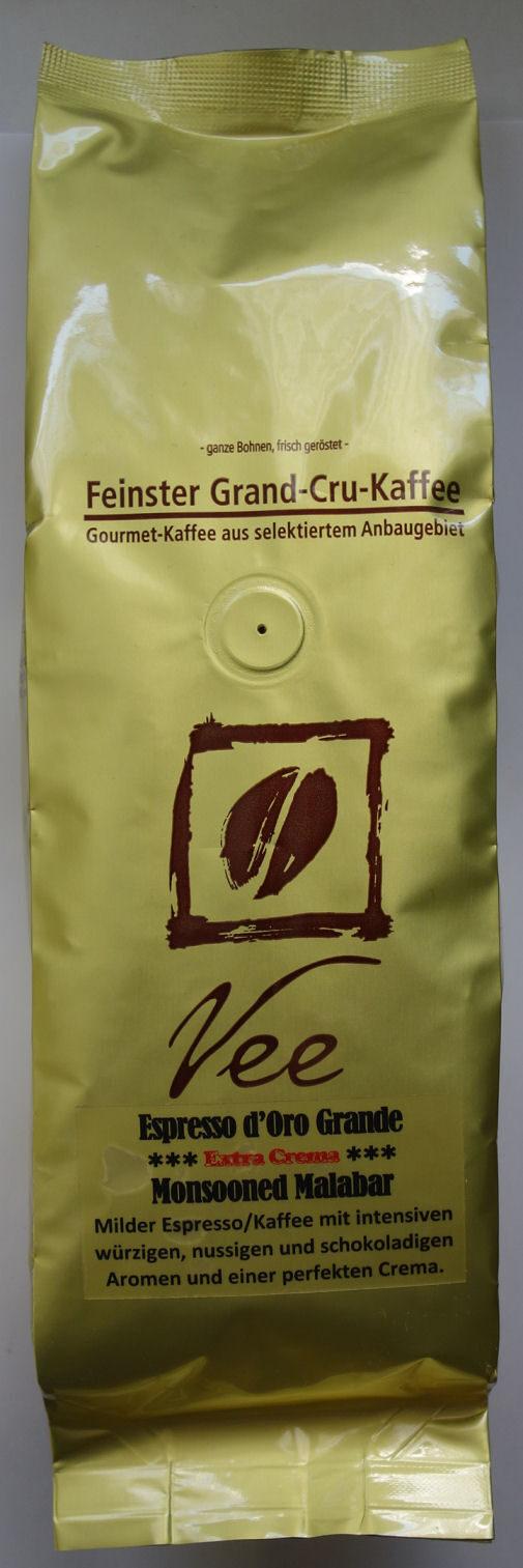 Espresso d'Oro Grande, Extra Crema, Monsooned Malabar - Product - de
