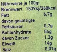 Bananeira Bio Quinoa weiß - Informations nutritionnelles