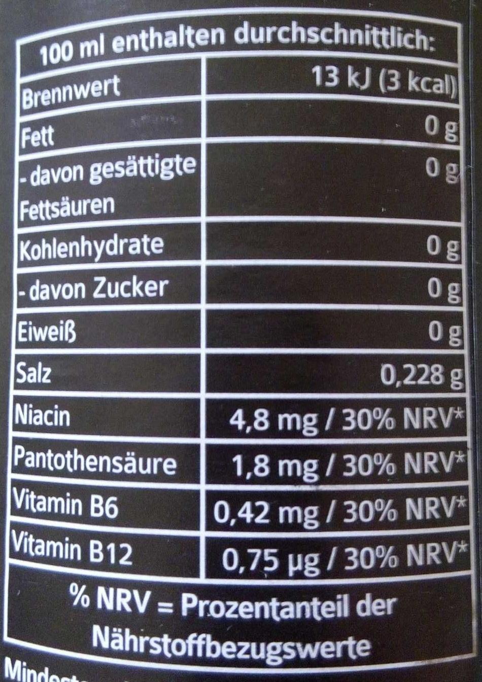 T400 ENERGY - Informations nutritionnelles - de