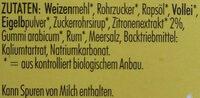 Zitronenkuchen - Ingredients