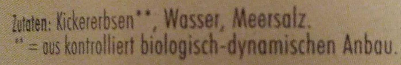 Kichererbsen - Ingrédients - de