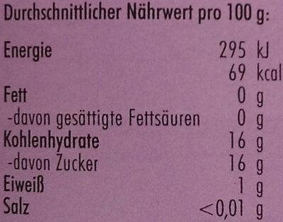 Sauerkirschen - Voedingswaarden - de