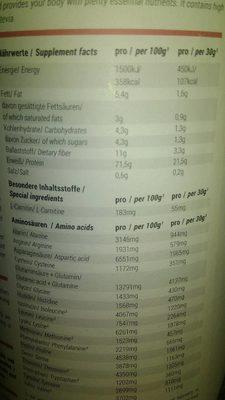 Foodspring Shape Shake - Informations nutritionnelles - fr