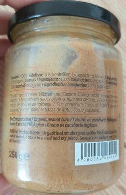 Erdnussbutter - Ingredients - en