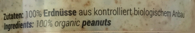 Peanut butter - Ingrédients