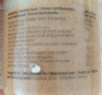 Erdnussbutter - Nutrition facts - en