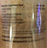 Peanut butter - Informations nutritionnelles