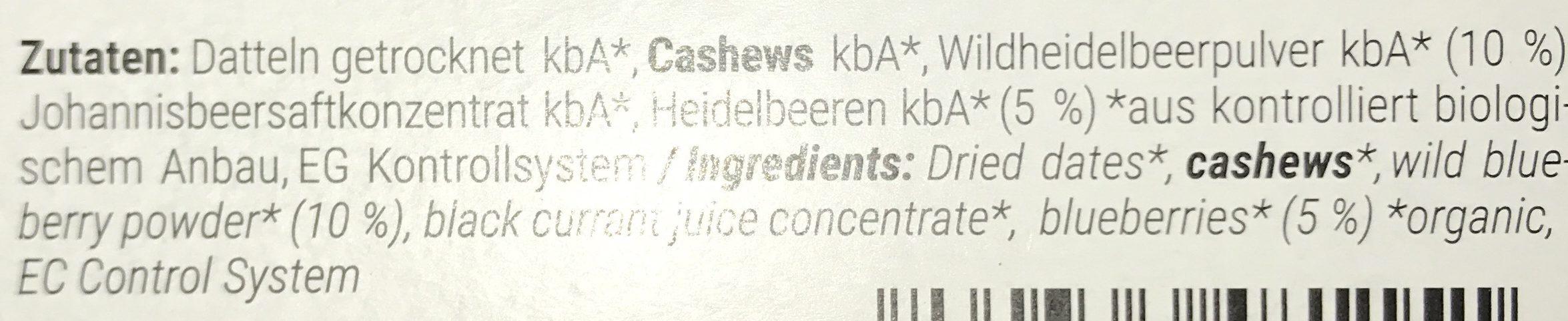 Paleo Bar - Ingredients - de
