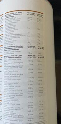 Shape shake - Informations nutritionnelles - fr