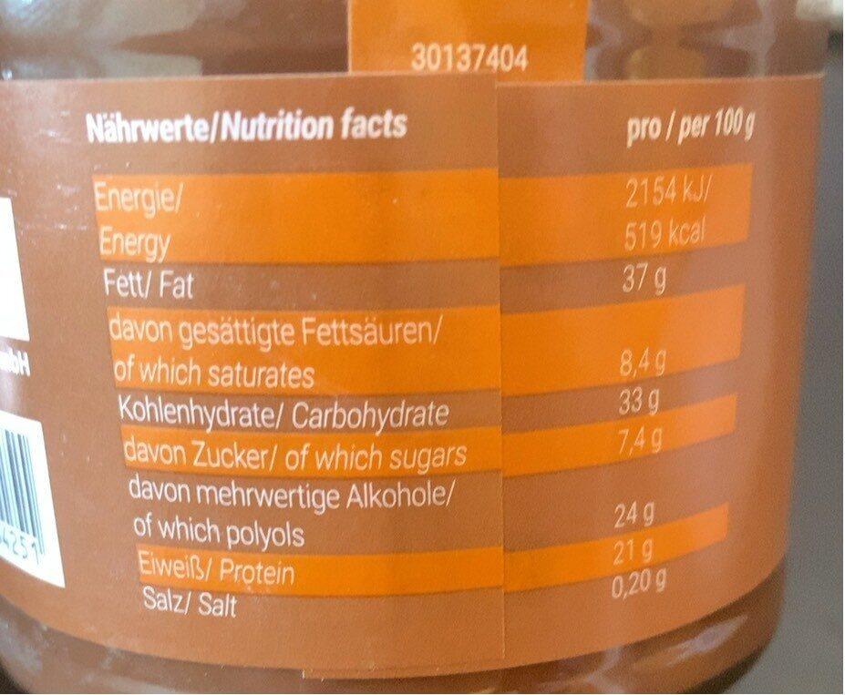 Protein Cream - Valori nutrizionali - de