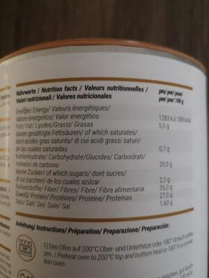 Protein pizza - Informations nutritionnelles - de