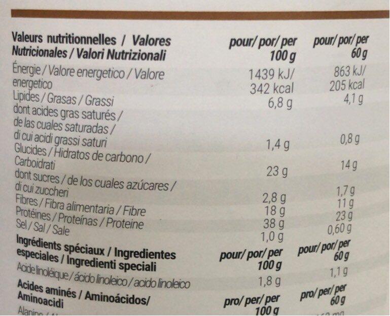 Foodspring shape shake 2.0 - Informations nutritionnelles - fr