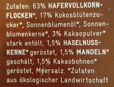 Lycka Schoko Nuss - Ingredients - de