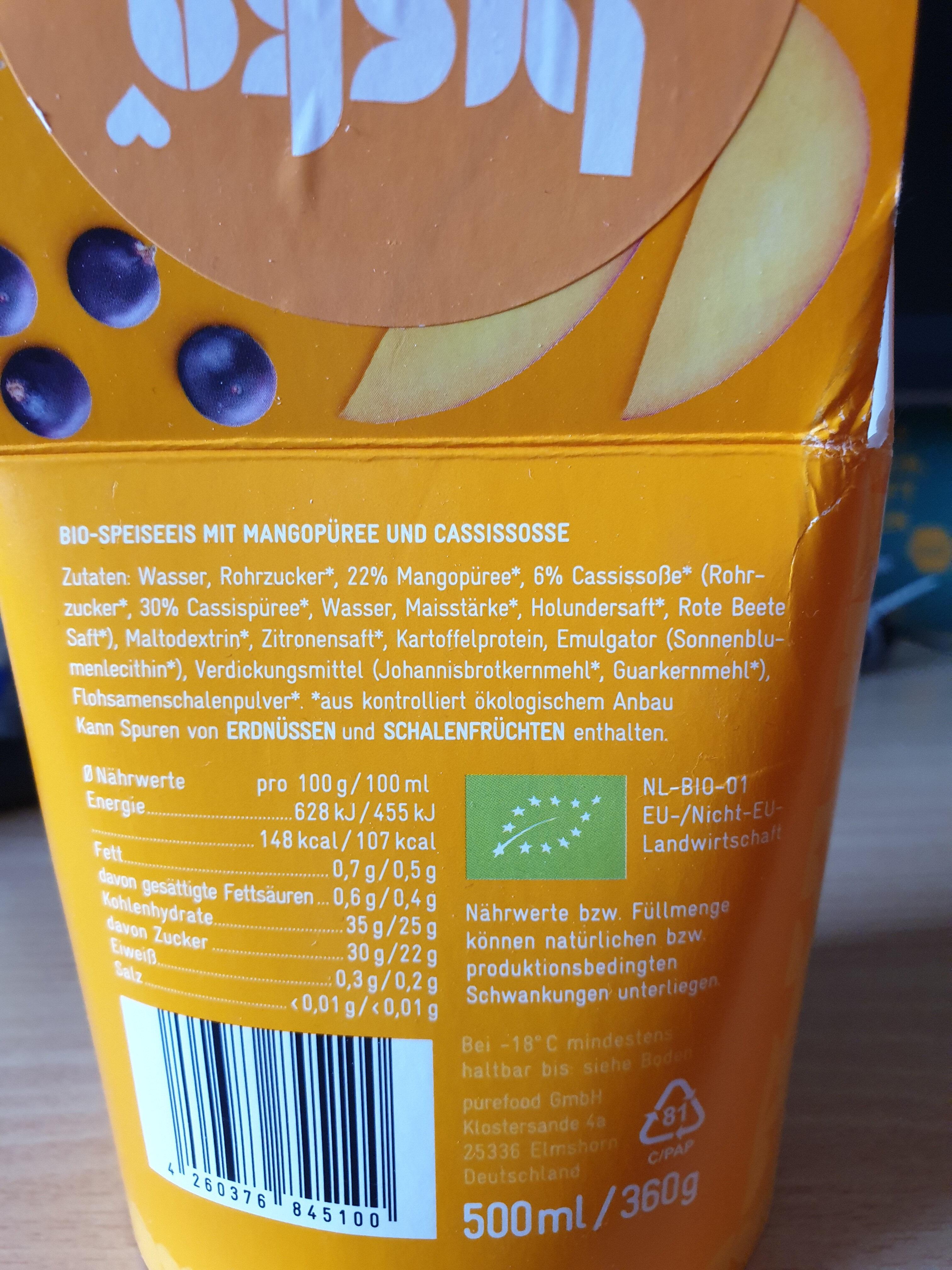 Mango Cassis - Ingredients - de