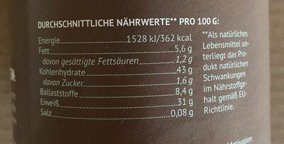 STARK Protein Porridge - Nutrition facts - de