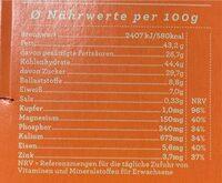 Chocqlate - Nährwertangaben - de