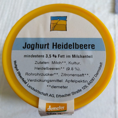 Joghurt Heidelbeere - Produkt