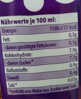 Saft Blaubeeren Birne Acai Brombeeren Vanille - Informations nutritionnelles - de