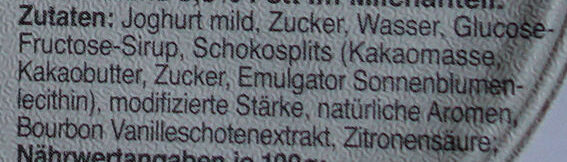 Schlemmer Becher Stracciatella - Ingredients