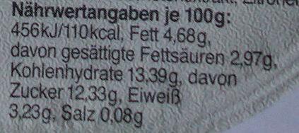 Schlemmer Becher Stracciatella - Nutrition facts